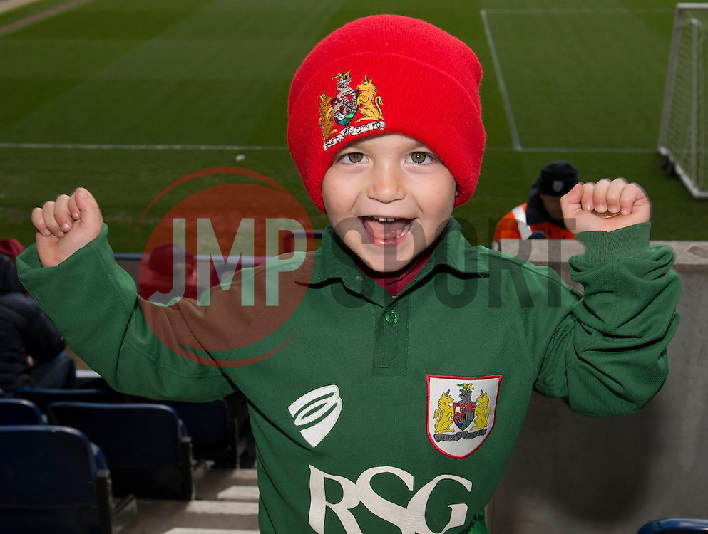 Bristol City fan - Photo mandatory by-line: Dougie Allward/JMP - Mobile: 07966 386802 - 11/04/2015 - SPORT - Football - Preston - Deepdale - Preston North End v Bristol City - Sky Bet League One