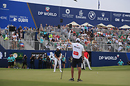 Danny Willett (ENG) on the 18th green during the 3rd round of the DP World Tour Championship, Jumeirah Golf Estates, Dubai, United Arab Emirates. 17/11/2018<br /> Picture: Golffile | Fran Caffrey<br /> <br /> <br /> All photo usage must carry mandatory copyright credit (© Golffile | Fran Caffrey)