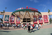 ANAHEIM, CA - APRIL 22:  Fans of the Los Angeles Angels of Anaheim walk toward the main entrance at the game against the Detroit Tigers at Angel Stadium on Wednesday, April 22, 2009 in Anaheim, California.  The Tigers defeated the Angels 12-10.  (Photo by Paul Spinelli/MLB Photos via Getty Images)