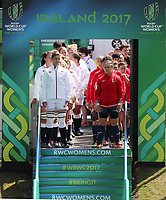 Rugby Union - 2017 Women's Rugby World Cup (WRWC) - Pool B: England vs. Spain<br /> <br /> Sarah Hunter of England leads the team out at the UCD Bowl, Dublin.<br /> <br /> COLORSPORT/LYNNE CAMERON