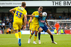 Randell Williams of Wycombe Wanderers takes on Ollie Clarke of Bristol Rovers - Mandatory by-line: Robbie Stephenson/JMP - 18/08/2018 - FOOTBALL - Adam's Park - High Wycombe, England - Wycombe Wanderers v Bristol Rovers - Sky Bet League One