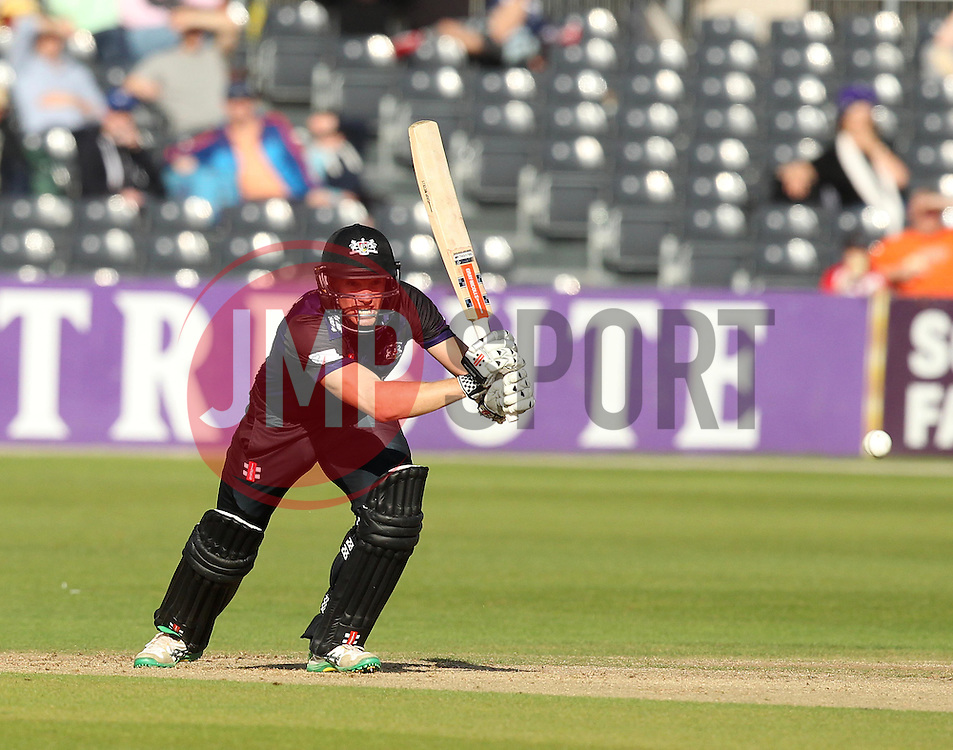 Gloucestershire's Michael Klinger drives - Photo mandatory by-line: Robbie Stephenson/JMP - Mobile: 07966 386802 - 26/06/2015 - SPORT - Cricket - Bristol - The County Ground - Gloucestershire v Sussex - Natwest T20 Blast