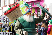 Tidy Towns folk out in strength at the the St. Patrick's Day Parade in Kinvara Co. Galway. Photo:Andrew Downes, xposure.