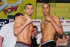 07.06.13 DEGALE V BOZIC WEIGH IN, GLOW, BLUEWATER, KENT, HENNESSY SPORTS