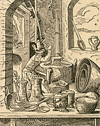 The Coppersmith. 16th century woodcut by Jost Amman.