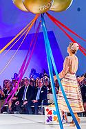 15-9-2017 UTRECHT Queen Maxima opens the congress 'The Day of Youth Professionals' on Friday 15 September at the Jaarbeurs in Utrecht. It is the first time that such a meeting is organized for professionals working in youth and youth protection. COPYRIGHT ROBIN UTRECHT<br /> <br /> <br /> 15-9-2017 UTRECHT Koningin Maxima opent vrijdagochtend 15 september in de Jaarbeurs in Utrecht het congres 'De Dag van de Jeugdprofessional'. Het is de eerste keer dat een dergelijke bijeenkomst wordt georganiseerd voor professionals die werkzaam zijn in de jeugdhulp en jeugdbescherming.COPYRIGHT ROBIN UTRECHT