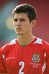 WREXHAM, WALES - Saturday, October 10, 2009: Wales' Aaron Morris before the UEFA Under-21 Championship Qualifying Round Group 3 match against Bosnia-Herzegovina at the Racecourse Ground. (Pic by Chris Brunskill/Propaganda)