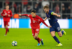 MUNICH, GERMANY - Wednesday, December 11, 2019: Bayern Munich's Philippe Coutinho Correia (L) and Tottenham Hotspur's captain Eric Dier during the final UEFA Champions League Group B match between FC Bayern München and Tottenham Hotspur FC at the Allianz Arena. (Pic by David Rawcliffe/Propaganda)