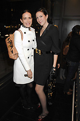 Left to right, SOPHIE ANDERTON and DEBBIE GETHING at the opening party of hairdresser Paul Edmond's new salon at 217 Brompton Road, London SW3 on 18th March 2008.<br />