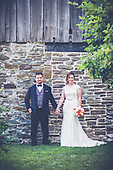 Melissa & Gabe, married in Mississauga and partied at Le Treport