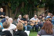 Israel, Nof Ginosar, Community singing