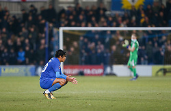 Toby Sibbick of AFC Wimbledon dejected at the final whistle - Mandatory by-line: Arron Gent/JMP - 16/02/2019 - FOOTBALL - Cherry Red Records Stadium - Kingston upon Thames, England - AFC Wimbledon v Millwall - Emirates FA Cup fifth round proper