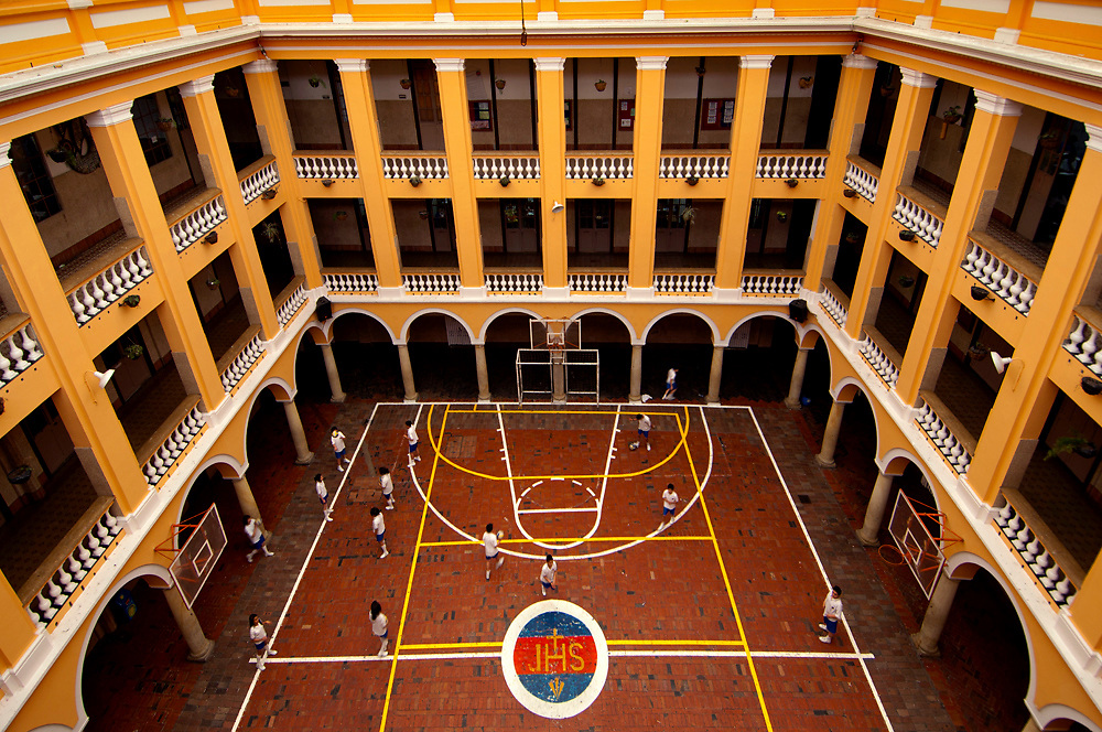 Colombia, Bogota, College of San Bartolome of Bogota, Founded in 1604, Basketball Court, Jesuit School