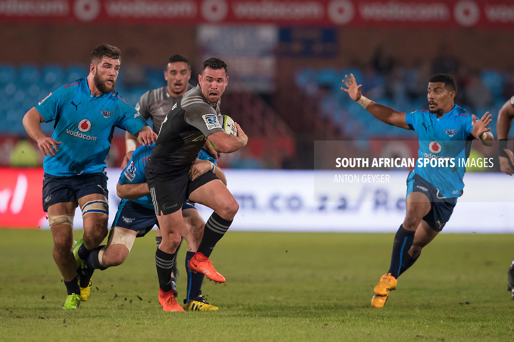 PRETORIA, SOUTH AFRICA - MAY 06: Ryan Crotty of the Crusaders in action during the Super Rugby match between Vodacom Bulls and Crusaders at Loftus Versfeld on May 06, 2017 in Pretoria, South Africa.<br /> (Photo by Anton Geyser/Gallo Images)