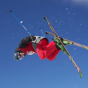 Klaus Finne, Norway, in action in the Men's Halfpipe Finals during The North Face Freeski Open at Snow Park, Wanaka, New Zealand, 3rd September 2011. Photo Tim Clayton....