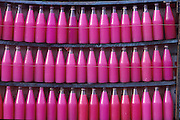 Bottles of pink drink at Trinco bus stand.