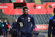 Garath McCleary (12) of Reading arriving at the Liberty Stadium before the EFL Sky Bet Championship match between Swansea City and Reading at the Liberty Stadium, Swansea, Wales on 27 October 2018.