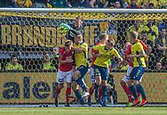 Oscar Hedvall (Silkeborg IF) taber bolden under kampen i 3F Superligaen mellem Brøndby IF og Silkeborg IF den 14. juli 2019 på Brøndby Stadion (Foto: Claus Birch)