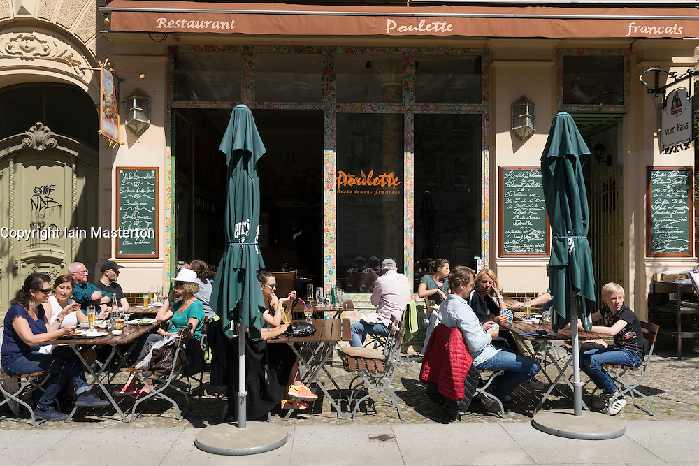 French Restaurant Poulette in Prenzlauer Bergdistrict of Berlin Germany