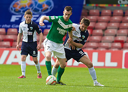 WREXHAM, WALES - Saturday, May 3, 2014: The New Saints' Christian Seargeant in action against Aberystwyth Town's Chris Venables during the Welsh Cup Final at the Racecourse Ground. (Pic by David Rawcliffe/Propaganda)