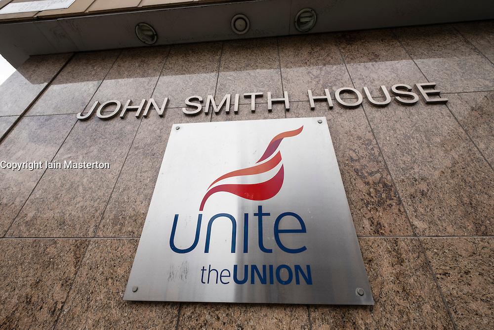 Detail of John Smith House headquarters of Unite Union in Glasgow, Scotland, United Kingdom