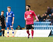 Peterborough midfielder Erhun Öztümer just after making it 1-0 to Peterborough during the Sky Bet League 1 match between Gillingham and Peterborough United at the MEMS Priestfield Stadium, Gillingham, England on 23 January 2016. Photo by David Charbit.