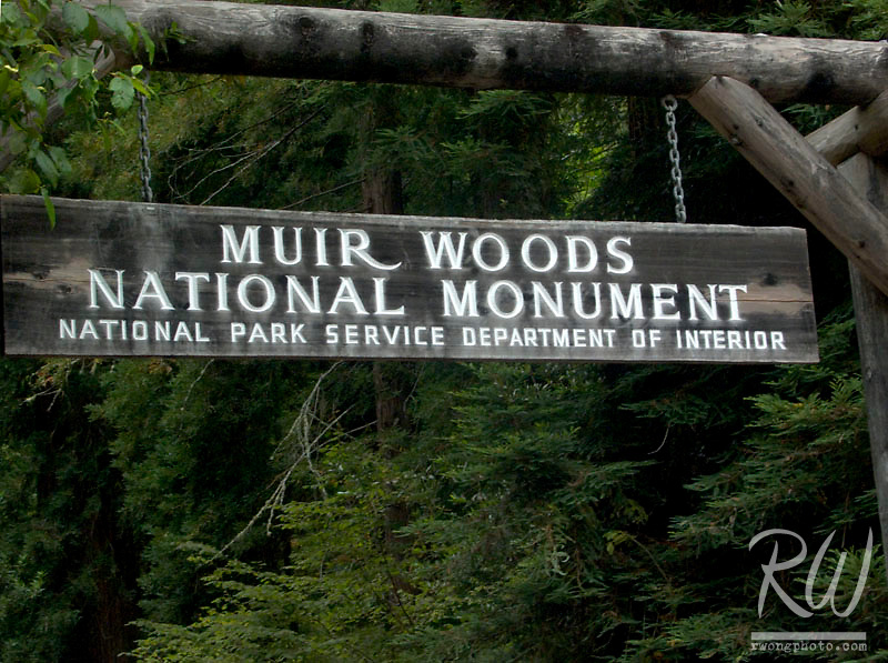 Entrance Sign, Muir Woods National Monument, California
