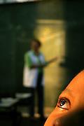 Sao Paulo_SP, Brasil. ..Aluno da 1a serie do turno da tarde durante a aula de Portugues. Escola Estadual Brigadeiro Gaviao Peixoto...A student during the Portuguese classroom. Estate School Brigadeiro Gaviao Peixoto...Foto: LEO DRUMOND / NITRO