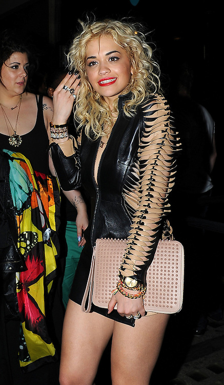 13.MAY.2012. LONDON<br /> <br /> SINGER RITA ORA LEAVING THE WHISKY MIST CLUB AT 2AM A LITTLE WORSE FOR WEAR AFTER CELEBRATING HER NUMBER ONE SINGLE 'R.I.P' IN CENTRAL LONDON<br /> <br /> BYLINE: EDBIMAGEARCHIVE.COM<br /> <br /> *THIS IMAGE IS STRICTLY FOR UK NEWSPAPERS AND MAGAZINES ONLY*<br /> *FOR WORLD WIDE SALES AND WEB USE PLEASE CONTACT EDBIMAGEARCHIVE - 0208 954 5968*