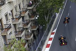 April 29, 2018 - Baku, Azerbaijan - Motorsports: World Championship; 2018; Grand Prix Azerbaijan, Grand Prix of Europe, Formula 1 2018 Azerbaijan Grand Prix, .#3 Daniel Ricciardo (AUS, Red Bull Racing), #33 Max Verstappen (NDL, Red Bull Racing) (Credit Image: © Hoch Zwei via ZUMA Wire)