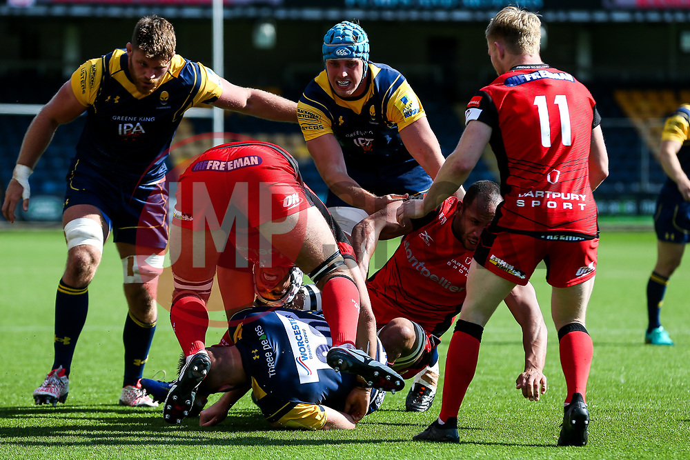 Pierce Phillips of Worcester Wariors in action - Rogan/JMP - 12/08/2017 - RUGBY UNION - Sixways Stadium - Worcester, England - Worcester Warriors v Hartpury RFC - Pre-Season Friendly.