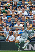 Internazionale goalkeeper Samir Handanovic (1) makes a save during the Pre-Season Friendly match between Tottenham Hotspur and Inter Milan at Tottenham Hotspur Stadium, London, United Kingdom on 4 August 2019.