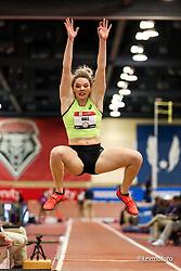 2020 USATF Indoor Championship<br /> Albuquerque, NM 2020-02-15<br /> photo credit: © 2020 Kevin Morris<br /> women long jump, asics