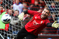 Picture by Daniel Chesterton/Focus Images Ltd +44 7966 018899.16/03/2013.Kelvin Davis of Southampton warms up before starting as a substitute with Artur Boruc of Southampton starting instead during the Barclays Premier League match at the St Mary's Stadium, Southampton.