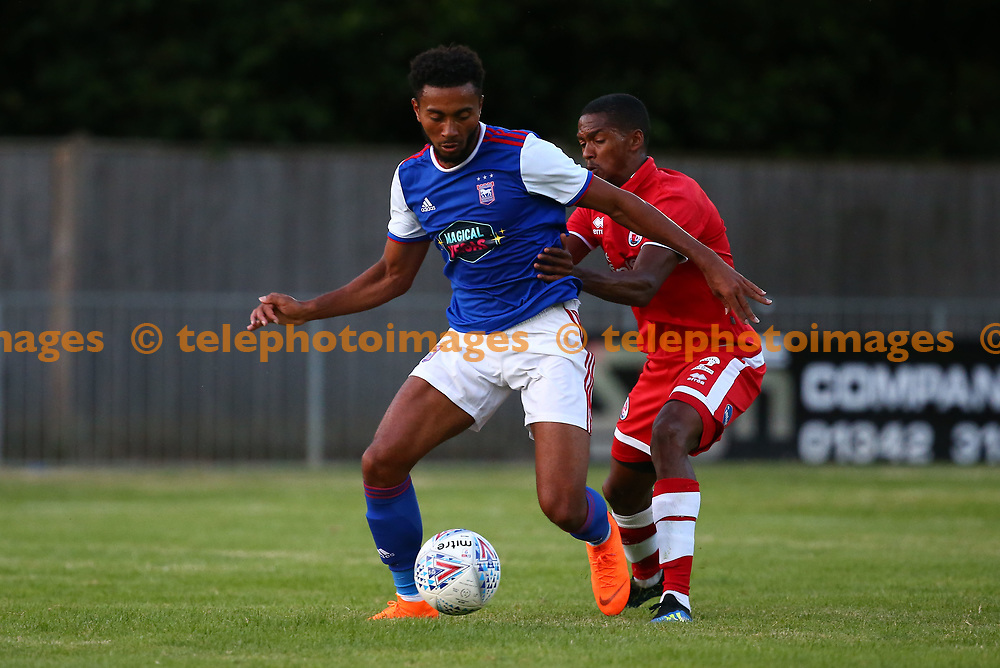 Crawley's Lewis Young during the pre season friendly between Crawley Town and Ipswich Town at East Court, East Grinstead, UK. 17 July 2018.