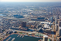 Aerial Images of the Batimore Harbor in Downtown Baltimore, MD
