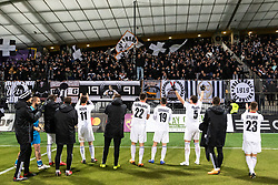 Team NŠ Mura celebrating with their supporters after football match between NŠ Mura and NK Maribor in 20th Round of Prva liga Telekom Slovenije 2018/19, on February 23, 2019 in Ljudski Vrt, Maribor, Slovenia. Photo by Blaž Weindorfer / Sportida