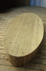 Low table made from decking. Design: Diarmuid Gavin