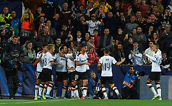November 5, 2019, Valencia, Valencia, Spain: Valencia players celebrates the goal of Daniel Parejo during the during the UEFA Champions League group H match between Valencia CF and Losc Lille at Estadio de Mestalla on November 5, 2019 in Valencia, Spain (Credit Image: © AFP7 via ZUMA Wire)