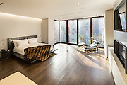 The interior of a newly renovated townhouse at 80 Wshington Place in Greenwich Village, New York City.