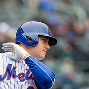 NEW YORK, NEW YORK - MAY 04:  Michael Conforto #30 of the New York Mets preparing to bat during the Atlanta Braves Vs New York Mets MLB regular season game at Citi Field on May 04, 2016 in New York City. (Photo by Tim Clayton/Corbis via Getty Images)