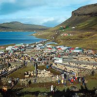 Hafravatnsr&eacute;tt, 1971<br /> <br /> Sheep round-up: Hafravatn corral, 1971