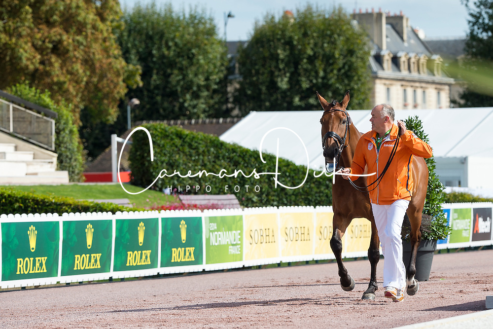 Sanne Voets, (NED), Vedet Pb - Horse Inspection Para Dressage - Alltech FEI World Equestrian Games™ 2014 - Normandy, France.<br /> © Hippo Foto Team - Jon Stroud<br /> 25/06/14