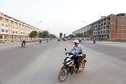 A new real estate project between Hanoi and Ha Dong province. Like many others, the construction of Do Thi Bao Son Park is unfinished due to rapid development, Vietnam, Southeast Asia