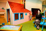 27-10-2018 THE HAGUE - The Japanese princess Princess Akishino Kiko gets a tour of the Children's Book Museum in The Hague. The Emperor's daughter-in-law is committed to children's literature and reading promotion. Copyright Robin Utrecht