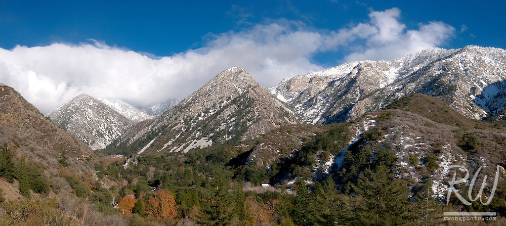 Panoramic Photo of Mount Baldy Village, San Gabriel Mountains, California
