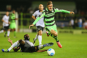 Forest Green Rovers Elliott Frear (11) rides the challenge of Eastleigh's Réda Johnson(27) during the Vanarama National League match between Forest Green Rovers and Eastleigh at the New Lawn, Forest Green, United Kingdom on 13 September 2016. Photo by Shane Healey.