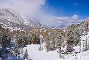 Little Lakes Valley after a winter storm, John Muir Wilderness, Sierra Nevada Mountains, California