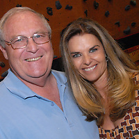 .First Lady Maria Shriver and Santa Monica Council Member Dr. Robert Holdbrook at the Santa Monica YMCA during the National Center on Addiction Substance Abuse's (CASA) Family Day - A Day to Eat Dinner with Your Children(TM) on Tuesday, September, 28, 2010.