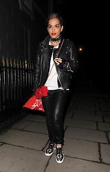 Rita Ora arriving at best friend Cara Delevingne's house in London, UK. 27/04/2013<br />BYLINE MUST READ : GOTCHAIMAGES.COM<br /><br />Copyright by © Gotcha Images Ltd. All rights reserved.<br />Usage of this image is conditional upon the acceptance <br />of Gotcha Images Ltd, terms and conditions available at<br />www.gotchaimages.com